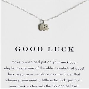 NWT Dogeared Elephant Necklace Sterling Silver
